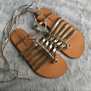 91c57e5a749b Lucky Brand Collette Metallic Gladiator Sandal